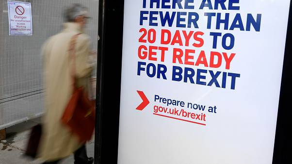 UK government Brexit information campaign poster in London, October 15, 2019.