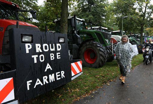Agricultores holandeses em protesto