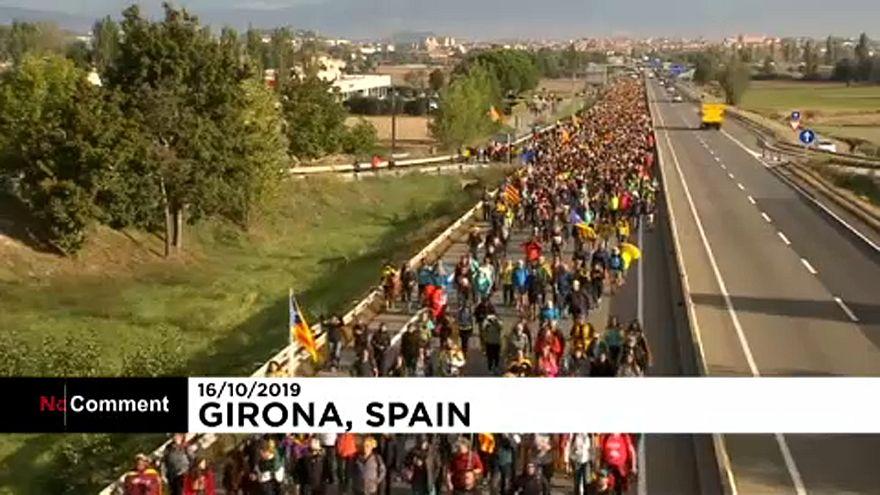 CInco marchas por la independencia de Cataluña
