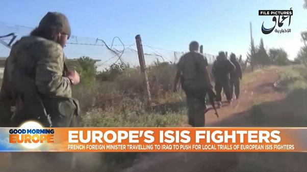 French foreign minister travels to Iraq to push for local trials of European IS fighters
