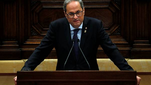 Catalan leader Quim Torra tells parliament there must be a new independence vote