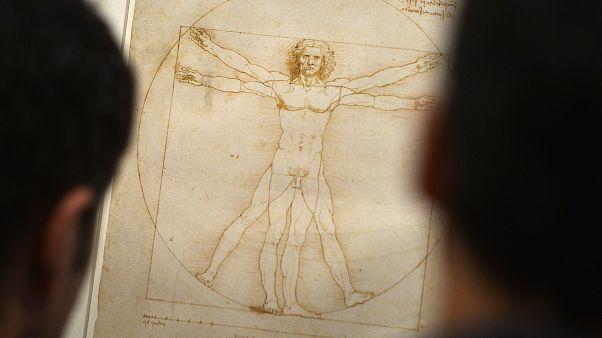 """""""Vitruvian Man"""" in Venice's Accademia Gallery"""