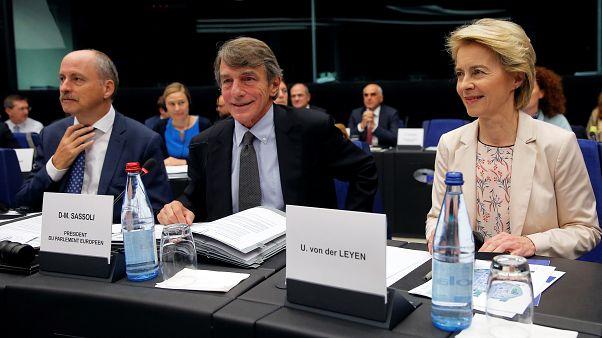 Davide Sassoli et Ursula von der Leyen