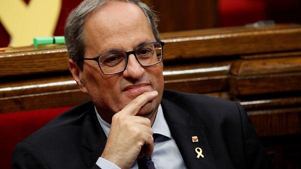 Quim Torra propone un nuevo referéndum de independencia para Cataluña