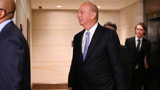 سفير واشنطن لدى الاتحاد الأوروبي غوردون سوندلاند خلال وصوله إلى مقر مجلس النواب الأميركي