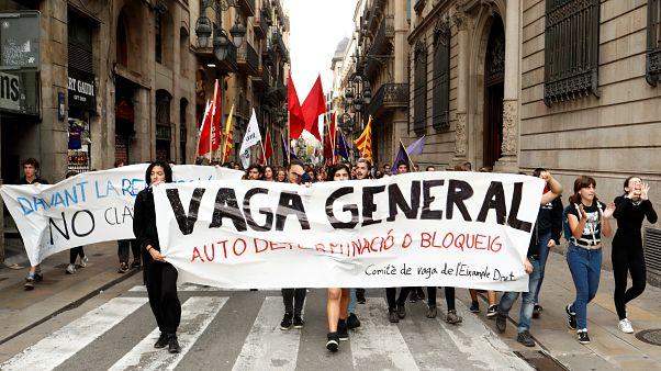 Jornada de huelga general en Cataluña