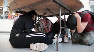 مانور زلزله در لوسآنجلس