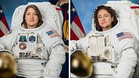 نخستین راهپیمایی فضایی با تیمی کاملا زنانه در حال انجام است