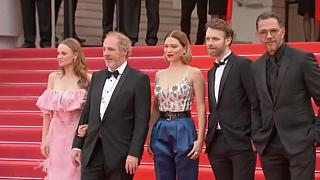"""Cast and director of """"Oh Mercy!"""" on red carpet at Cannes Film Festival"""