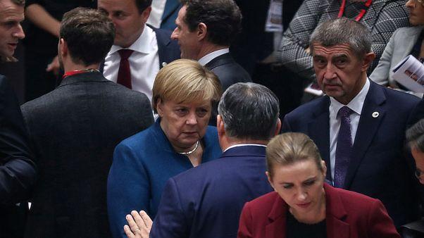 قادة أوروبيون في قمة استثنائية ببروكسل