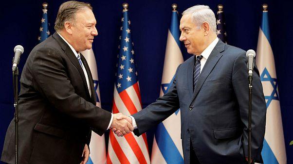 پمپئو در دیدار با نتانیاهو: برای مقابله با تهدیدات ایران تلاش میکنیم