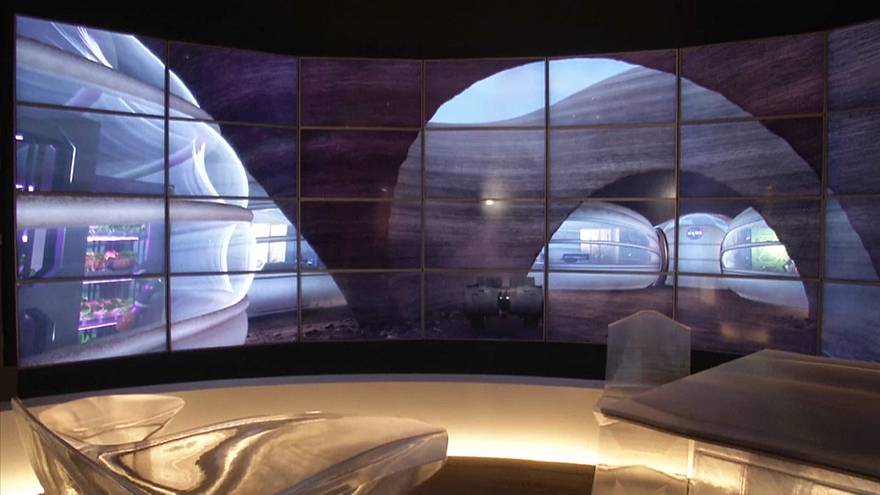 Watch: Designers showcase fashion and interiors fit for life on Mars