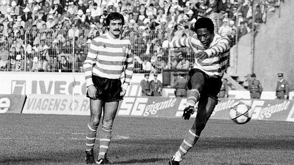 António Oliveira formou com Rui Jordão (à direita) uma das grandes linhas de ataque no Sporting