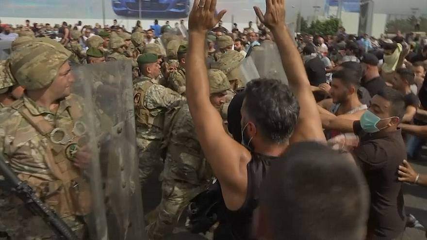 Angry protesters block major roads in Lebanon