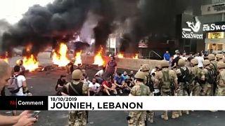 Véres tüntetés Libanonban