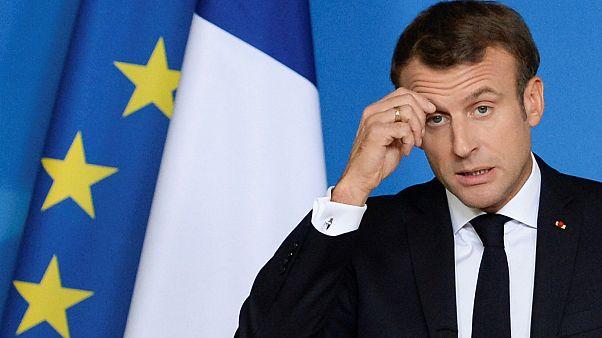 امانوئل ماکرون رئییس جمهوری فرانسه در نشست سران اتحادیه اروپا/ بروکسل