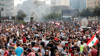 من الاحتجاجات في وسط بيروت الجمعة