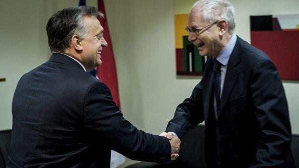 Orbán Viktor miniszterelnök és Herman Van Rompuy 2015-ben
