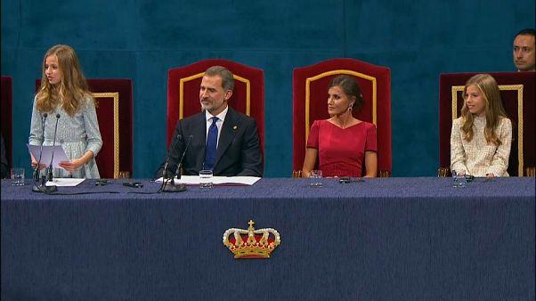 Leonor de Borbón ejerce de anfitriona en los premios Princesa de Asturias