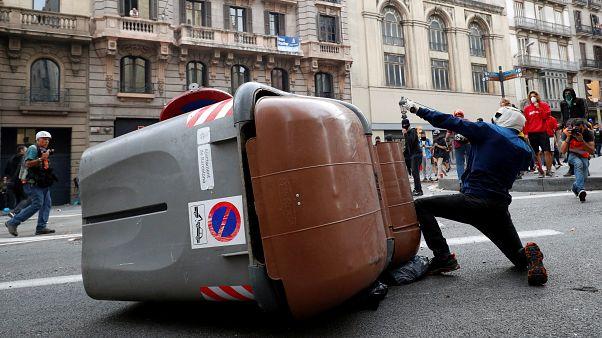Erőszak a barcelonai utcákon