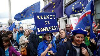 Milhares de pessoas em protesto contra o Brexit