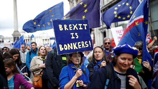 Multitudinaria manifestación en Londres a favor de un segundo referéndum del Brexit