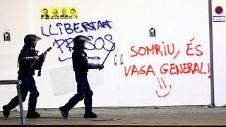 """""""Recados"""" políticos depois de semana de protestos na Catalunha"""