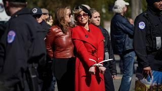 Jane Fonda arrested again in Washington DC at climate change protest