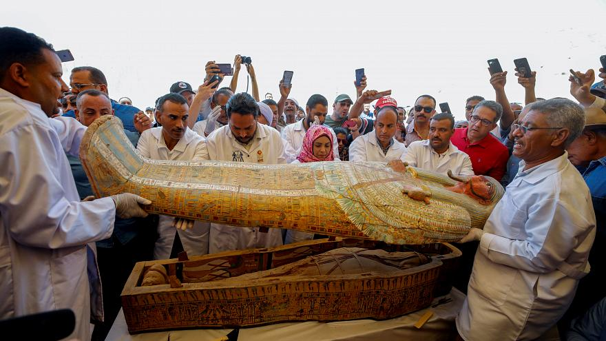 Egypt unveils biggest ancient coffin find in over a century