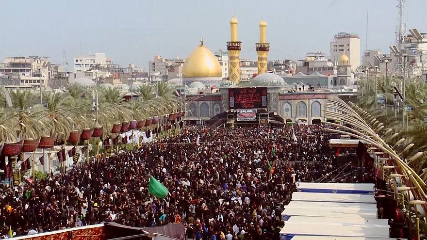 ویدئو؛ حضور میلیونها زائر در کربلا برای مراسم اربعین