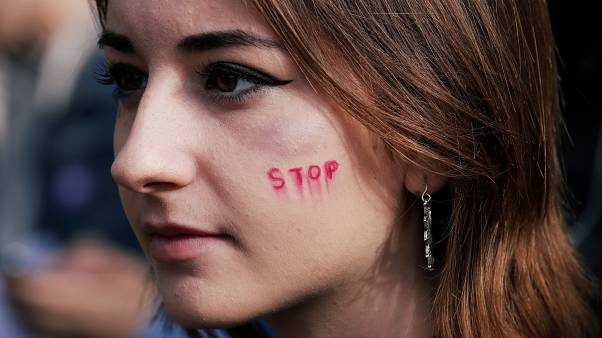 Hundreds of people protest in Paris against violence towards women