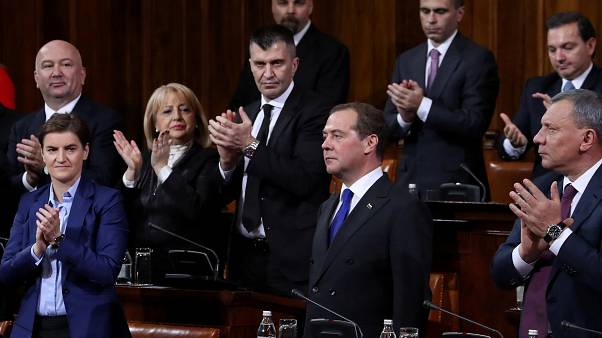 O πρωθυπουργός της Ρωσίας στη Σερβία