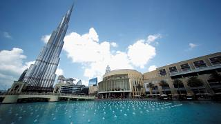 برج خليفة ودبي مول