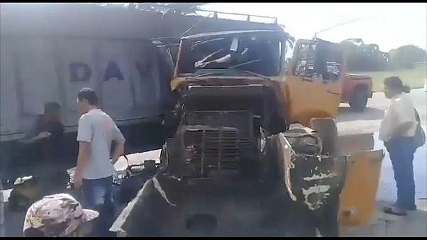فيديو: شاحنة تصطدم بمجموعة سيارات في فنزويلا ووقوع 14 جريحاً