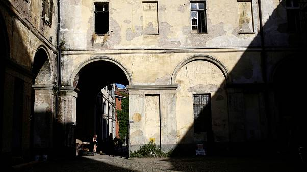 FILE PHOTO: A yard of the Cavallerizza Reale building in Turin, Italy, July 15, 2016.