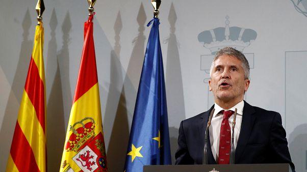 """Interior espera que las protestas en Cataluña """"bajen de intensidad"""""""