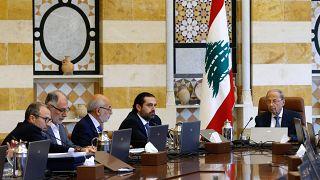 الرئيس عون أثناء الاجتماع الوزاري اليوم