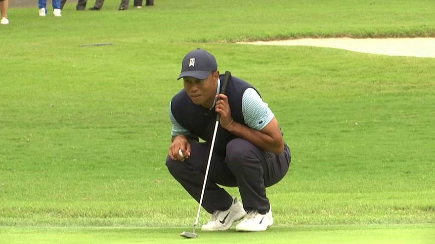 Golf: Tiger Woods acclamato in Giappone