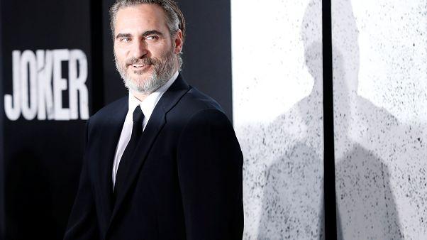 "Joaquin Phoenix attends the premiere for the film ""Joker"" in Los Angeles, California, U.S., September 28, 2019."