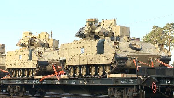 Американские танки у белорусской границы