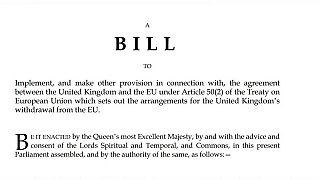 """Brexit: İngiltere'nin """"AB'den ayrılma"""" yasa tasarısı neleri içeriyor?"""