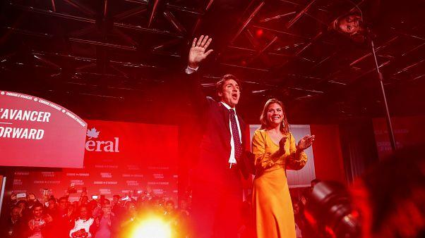 Justin Trudeau et son épouse à Montréal, le 22/10/2019
