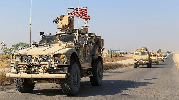 قافلة من المركبات الأمريكية بعد انسحابها من شمال سوريا، دهوك، العراق، 21 أكتوبر/ تشرين الأول 2019