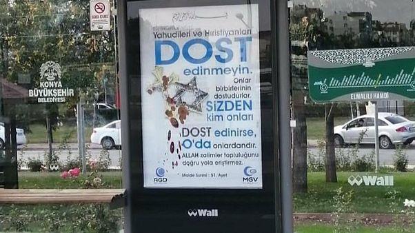 تبلیغ ضد مسیحیت و یهودیت حزب عدالت و توسعه در شهر قونیه ترکیه