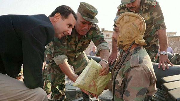 شاهد: الأسد يصف أردوغان باللص خلال زيارة مفاجئة لمدينة إدلب