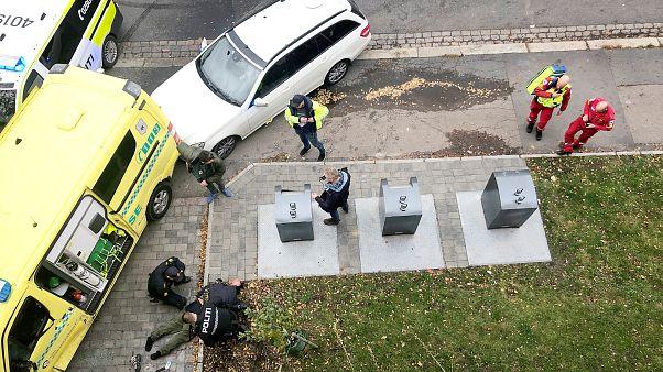 Der Amokfahrer wird festgenommen.