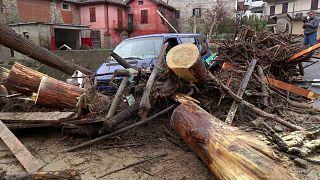 Folgen der Unwetter in Castelletto D'Orba.