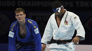 مبارزه سعید ملایی با حریف بلژیکی در نیمه نهایی مسابقات قهرمانی جهان
