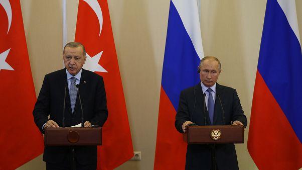Türkiye Cumhurbaşkanı Recep Tayyip Erdoğan ve Rusya Devlet Başkanı Vladimir Putin, Rusya'nın Soçi kentinde bir araya geldi (Murat Kula - Anadolu Ajansı )