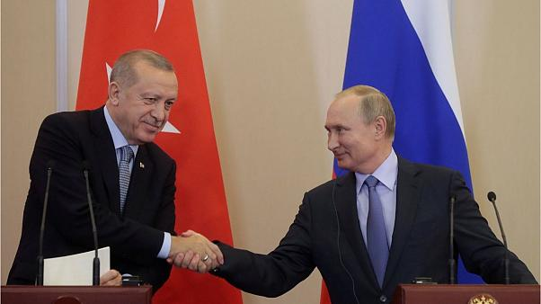 کنفرانس خبری اردوغان و پوتین در پایان مذاکرات سوچی